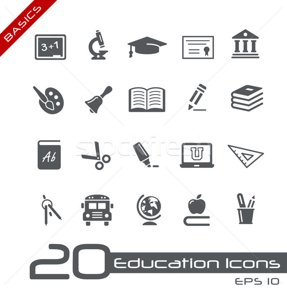 Education Icons // Basics Series Stock photo © Palsur