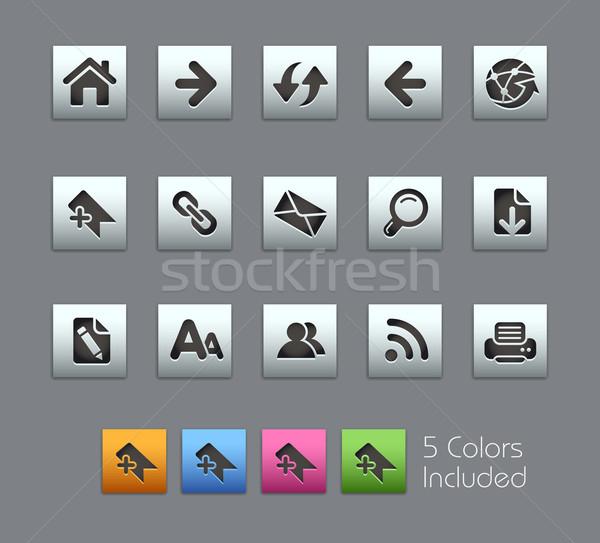 Stock fotó: Háló · navigáció · eps · akta · szín · különböző