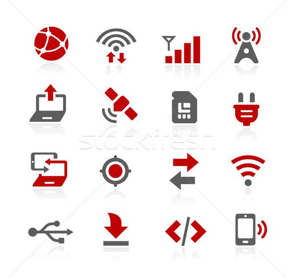 Bağlantı vektör simgeler web yazılım gelişme Stok fotoğraf © Palsur
