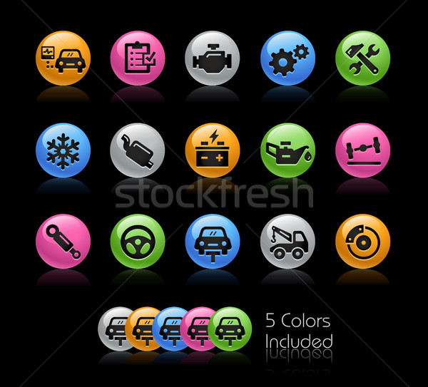 Car Services Icons - Gelcolor Series Stock photo © Palsur