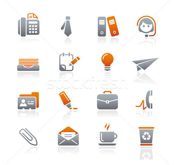 Office & Business Icons // Graphite Series Stock photo © Palsur