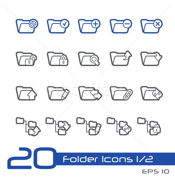 Folder Icons - 1 of 2 -- Line Series Stock photo © Palsur