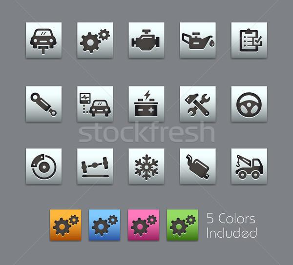Auto dienst iconen vector bestand kleur Stockfoto © Palsur