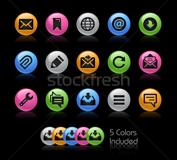 Wiadomości ikona wektora pliku kolor ikona Zdjęcia stock © Palsur