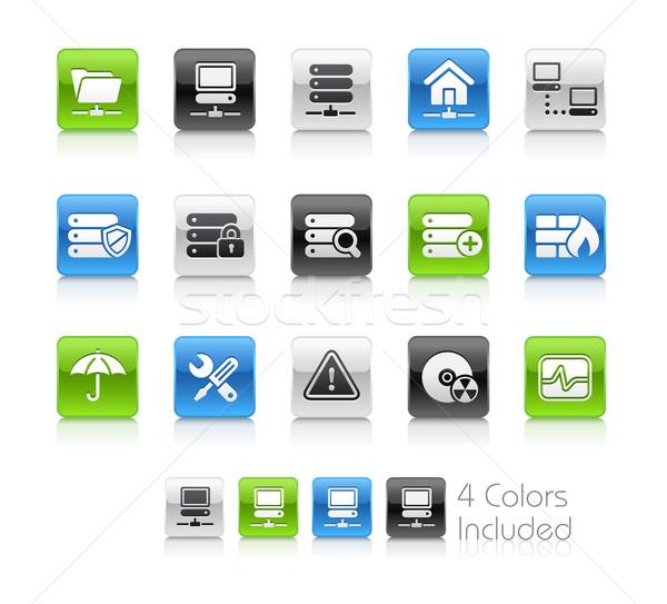 Hálózat szerver hosting tiszta eps akta Stock fotó © Palsur