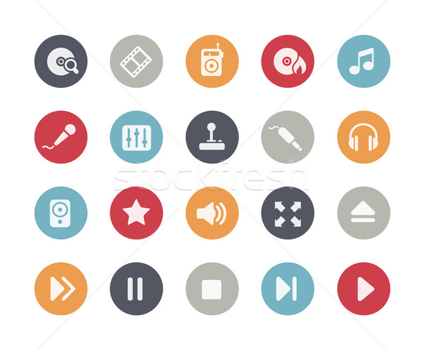 Media Player Icons // Classics Series Stock photo © Palsur