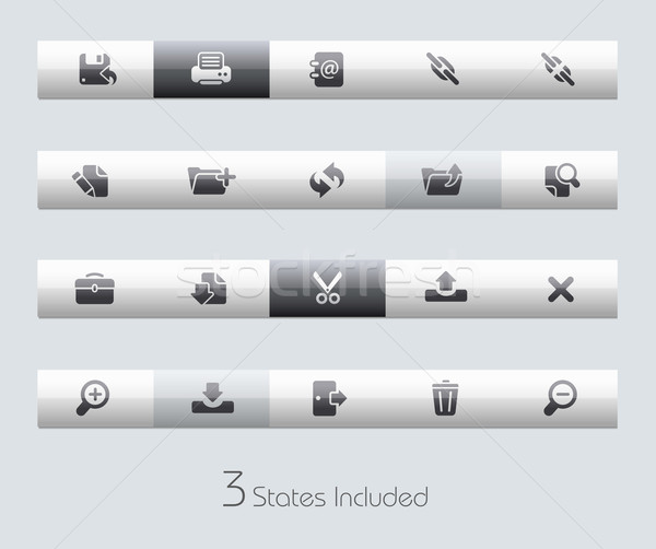 Stok fotoğraf: Web · arayüz · vektör · dosya · düğmeler · farklı