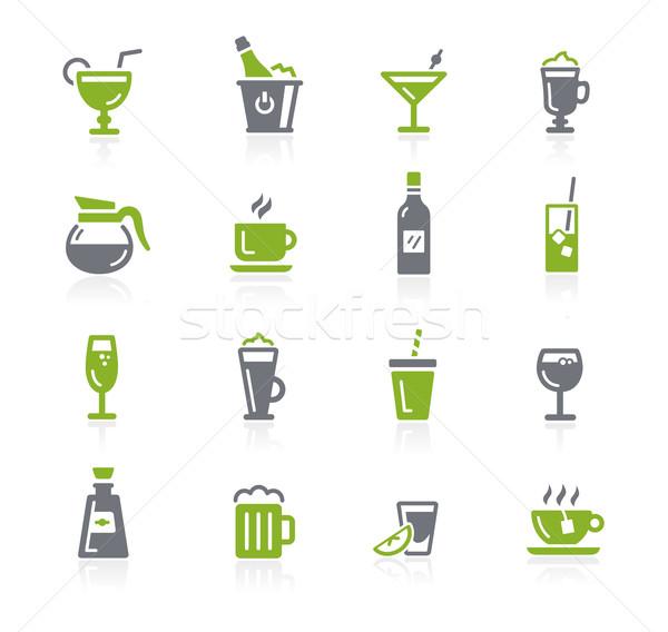 Drinks Icons // Natura Series Stock photo © Palsur
