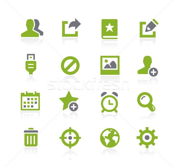 Komunikacji interfejs ikona wektora internetowych komórkowych Zdjęcia stock © Palsur