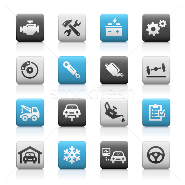 Car Service Icons - Matte Series Stock photo © Palsur