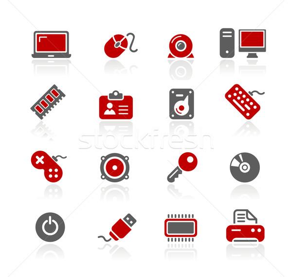 Foto stock: Ordenador · iconos · profesional · sitio · web · presentación