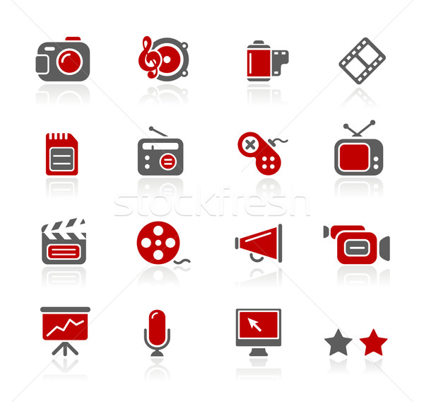 Stok fotoğraf: Multimedya · simgeler · profesyonel · web · sitesi · tanıtım · eps8