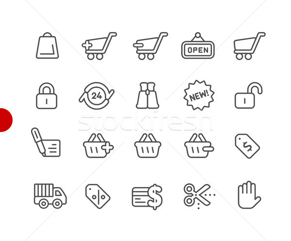 Shopping Icons // Red Point Series Stock photo © Palsur