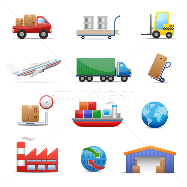 Industry & logistics Icon Set  Stock photo © Palsur
