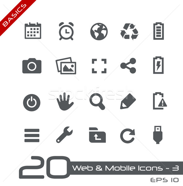 Web & Mobile Icons-3 // Basics Stock photo © Palsur