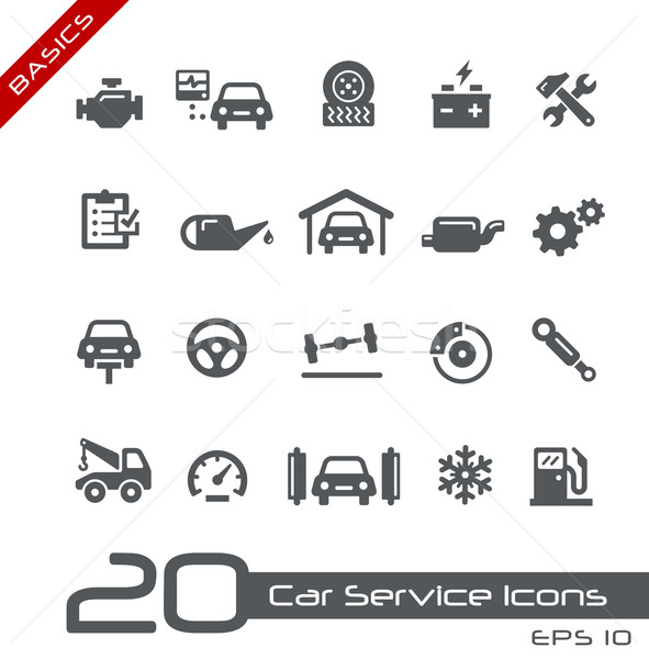 Car Service Icons -- Basics Stock photo © Palsur