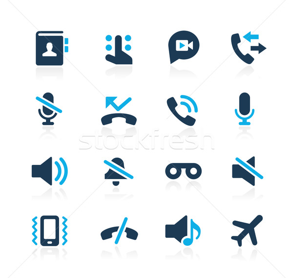 Phone Calls Interface Icons // Azure Series Stock photo © Palsur