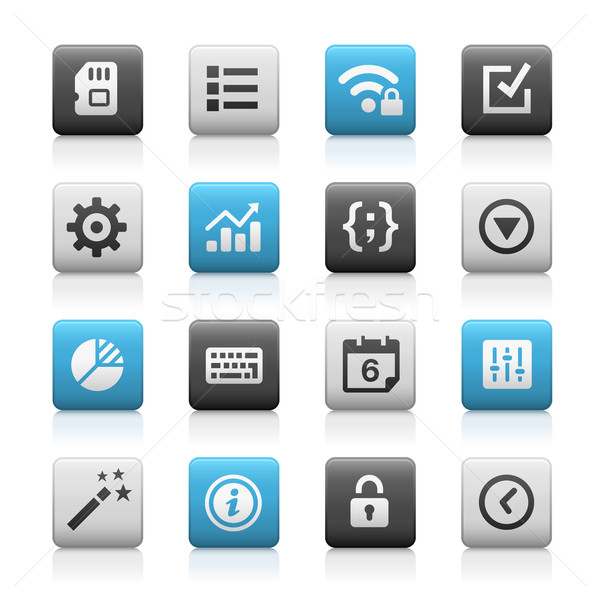 Web and Mobile Icons 4 // Matte Series Stock photo © Palsur