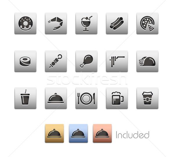 Food Icons - Set 2 of 2 -- Metalbox Series Stock photo © Palsur