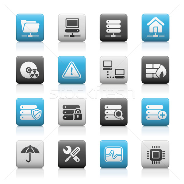 Network, Server & Hosting Icons // Matte Series Stock photo © Palsur