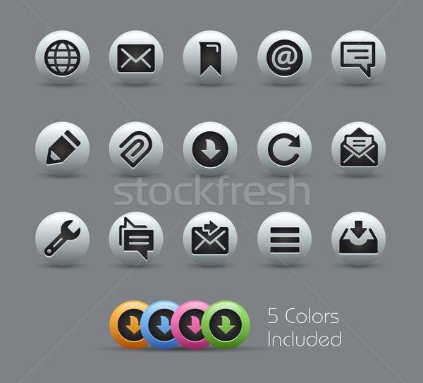 Messages Icons -- Pearly Series Stock photo © Palsur