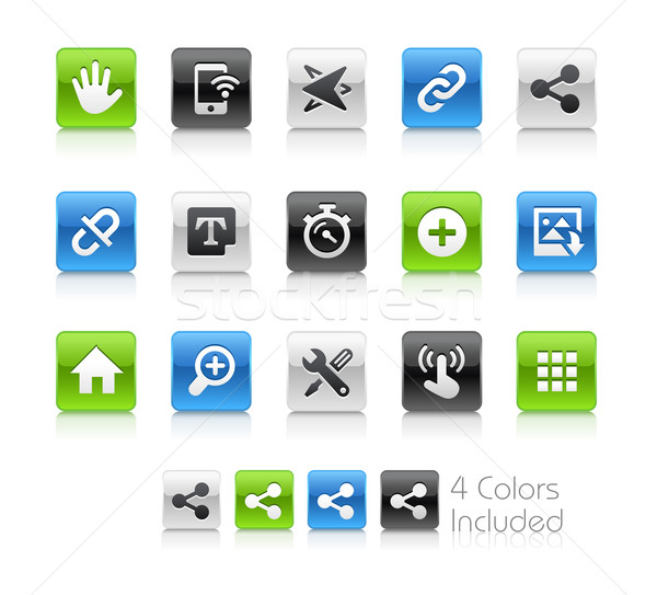 Stock photo: Web and Mobile Icons 10 -- Clean Series