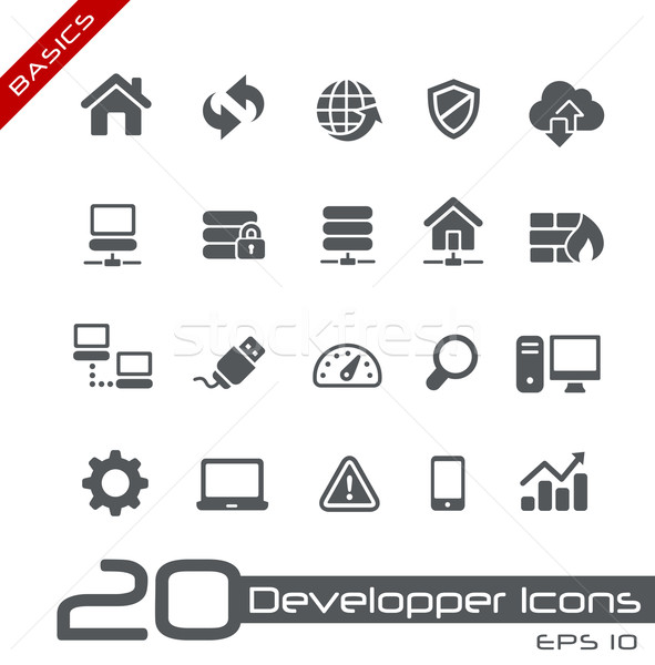 Developer Icons // Basics Series Stock photo © Palsur