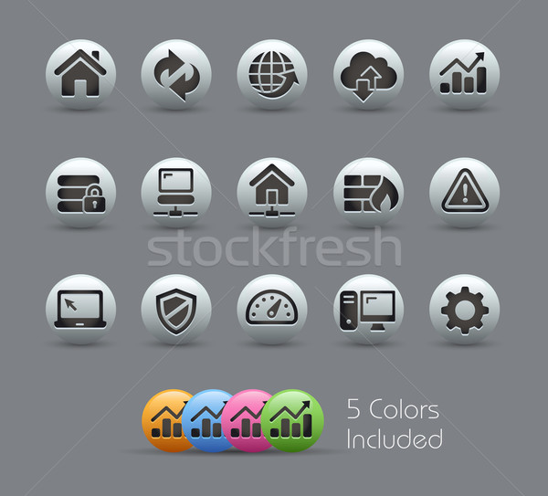 Web Developer Icons // Pearly Series Stock photo © Palsur