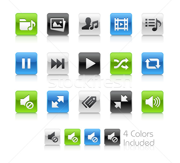 ウェブ 携帯 アイコン クリーン ベクトル ファイル ストックフォト © Palsur