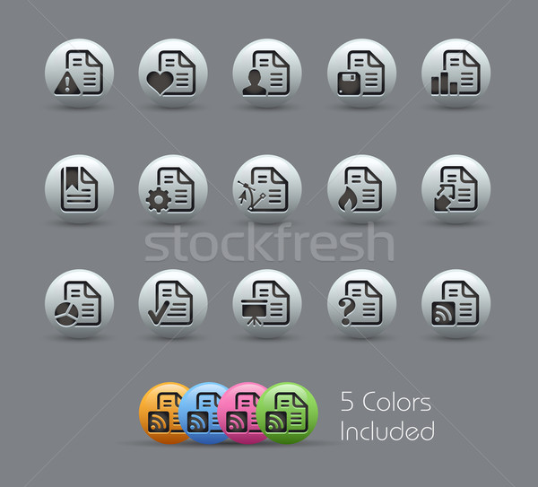 Documents Icons - 2 of 2 // Pearly Serie Stock photo © Palsur