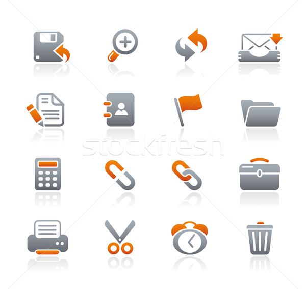 Stockfoto: Interface · web · icons · grafiet · professionele · iconen · website