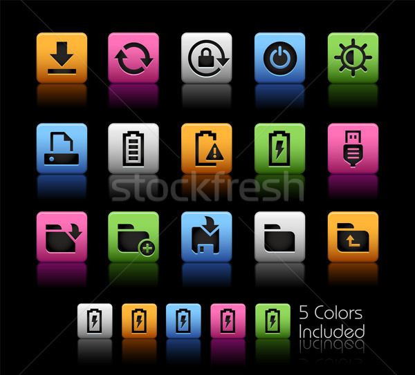 Stock photo: Energy and Storage Icons -- ColorBox Series