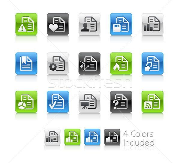 Documents Icons - 2 // Clean Series Stock photo © Palsur