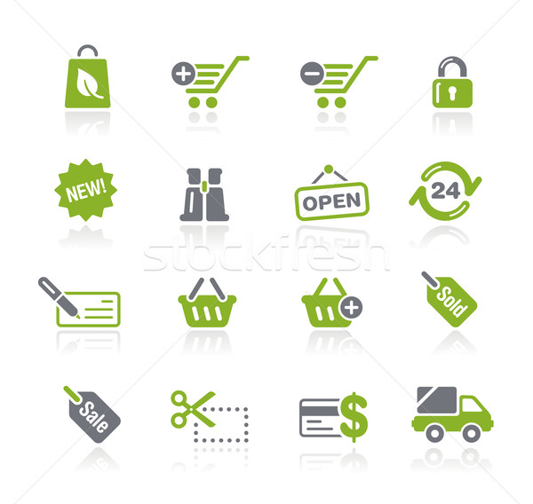 Foto stock: Compras · profesional · iconos · sitio · web · presentación · eps8