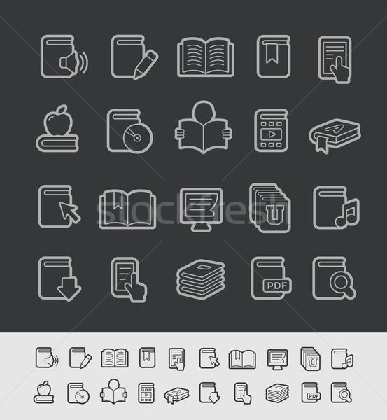 Book Icons -- Black Line Series Stock photo © Palsur