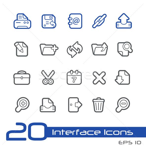 Web Icons -- Line Series Stock photo © Palsur