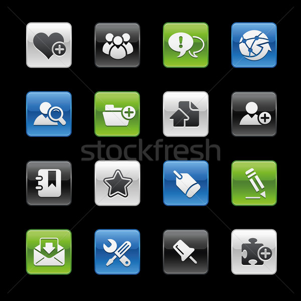 Stock fotó: Internet · blog · ikonok · profi · weboldal · bemutató