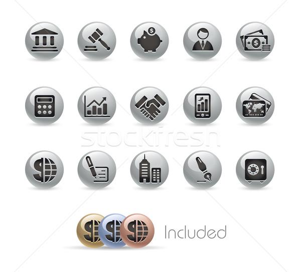 Stock fotó: üzlet · pénzügy · eps · akta · szín · ikon