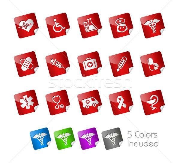 Tıp bakım etiket eps dosya renk Stok fotoğraf © Palsur