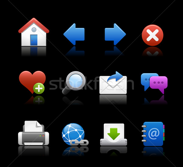Web Icons // Black Background Stock photo © Palsur