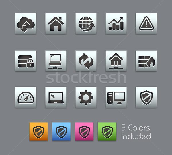 Internetowych wywoływacz ikona wektora pliku kolor Zdjęcia stock © Palsur