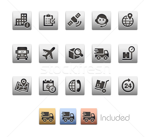 Shipping and Tracking Icons - Metalbox Series Stock photo © Palsur