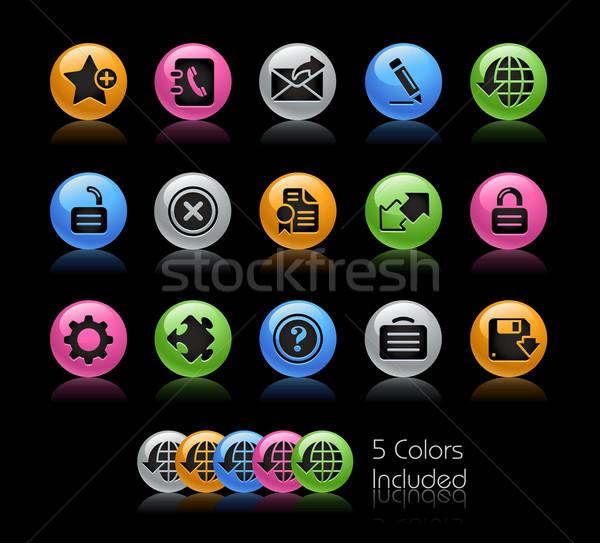 Web 20 gel couleur eps fichier Photo stock © Palsur