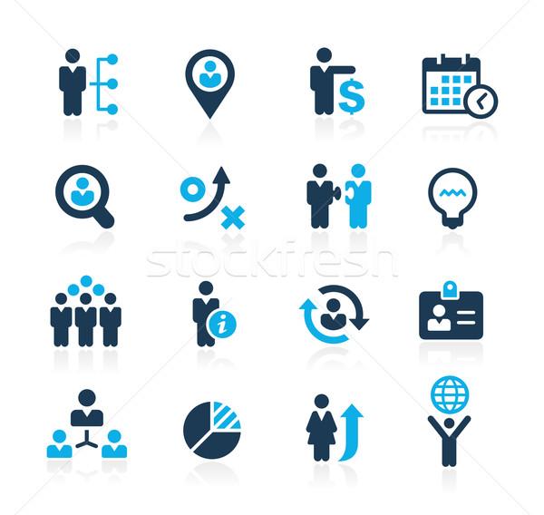 эффективность бизнеса лазурный вектора иконки Сток-фото © Palsur