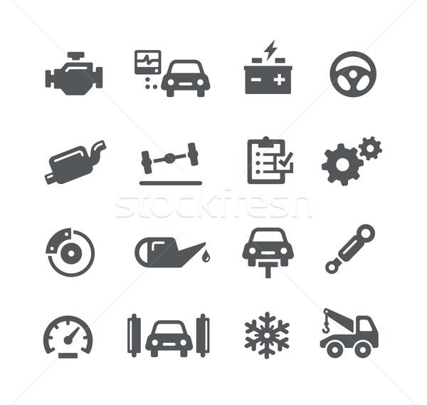 Auto dienst iconen utility vector digitale Stockfoto © Palsur