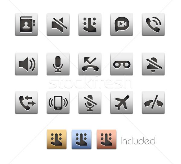 интерфейс иконки вектора файла цвета икона Сток-фото © Palsur