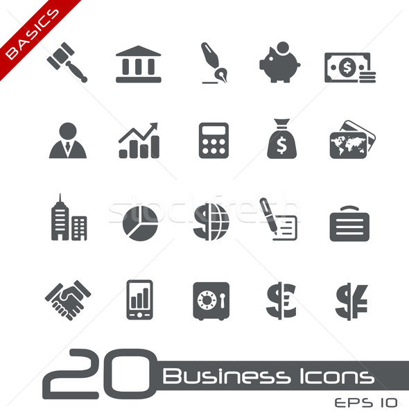 Negocios financiar iconos vector web Foto stock © Palsur