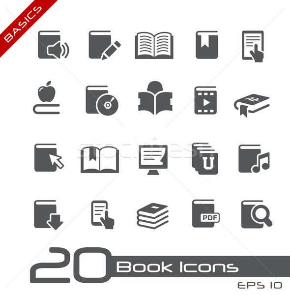 Photo stock: Livre · icônes · vecteur · web