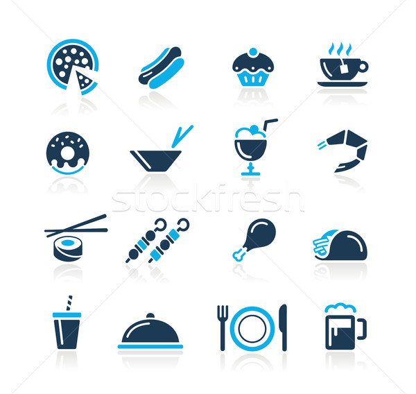 Stock photo: Food Icons - 2 // Azure Series