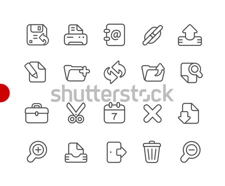 Interface Icons -- Outline Button Stock photo © Palsur
